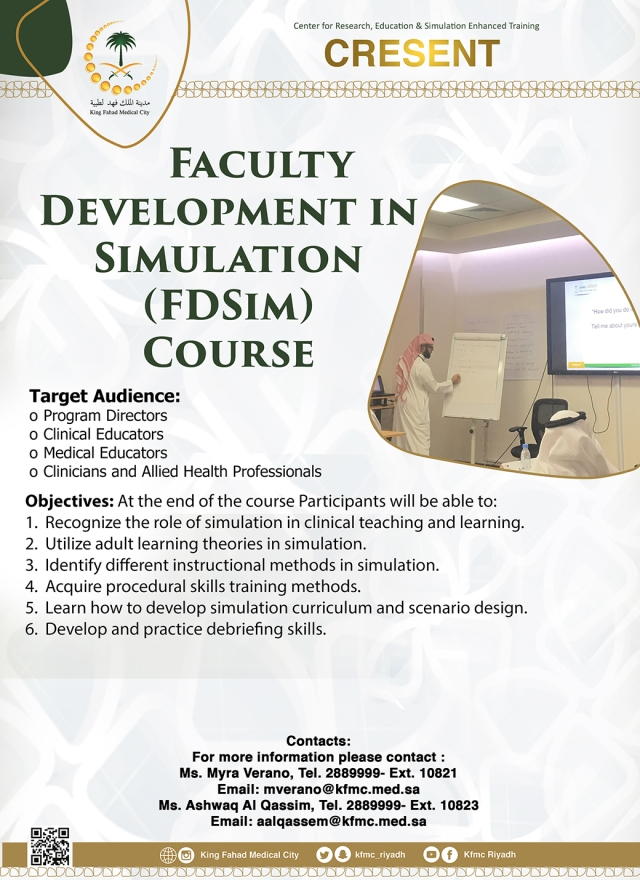 14. Faculty Development in Simulation (FDSim) Course